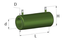 Проволочные эмалированные влагостойкие трубчатые постоянные резисторы ПЭВ